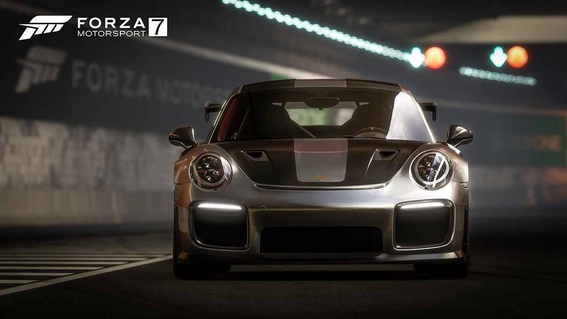 Forza Motorsport 7 Porsche 911 GT2 RS tunnel front