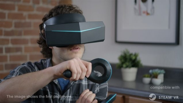 Pimax 8K virtual reality headset in motion