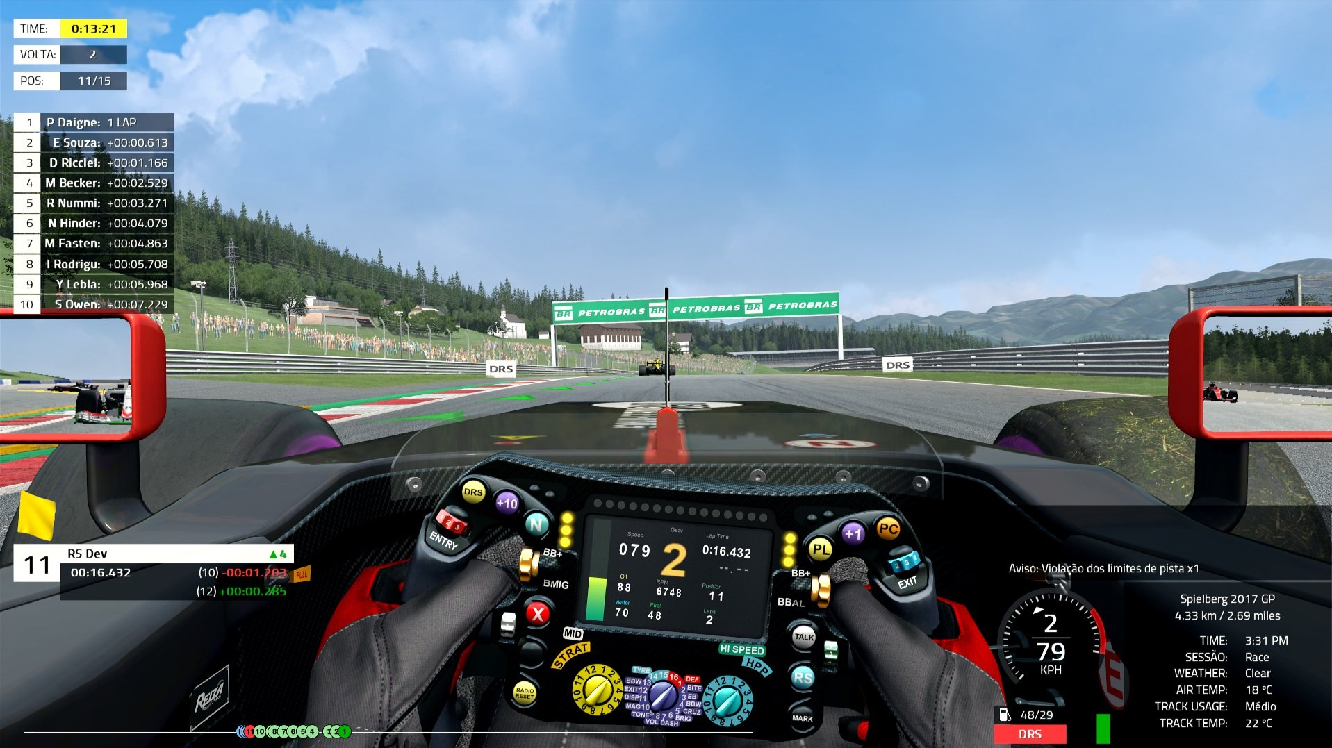 Automobilista reworked native HUD 2
