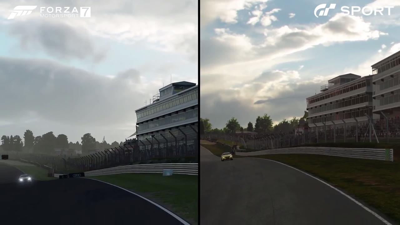 Forza Motorsport 7 Gran Turismo Sport Brands Hatch main straight