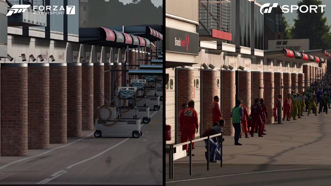 Forza Motorsport 7 Gran Turismo Sport Brands Hatch pits