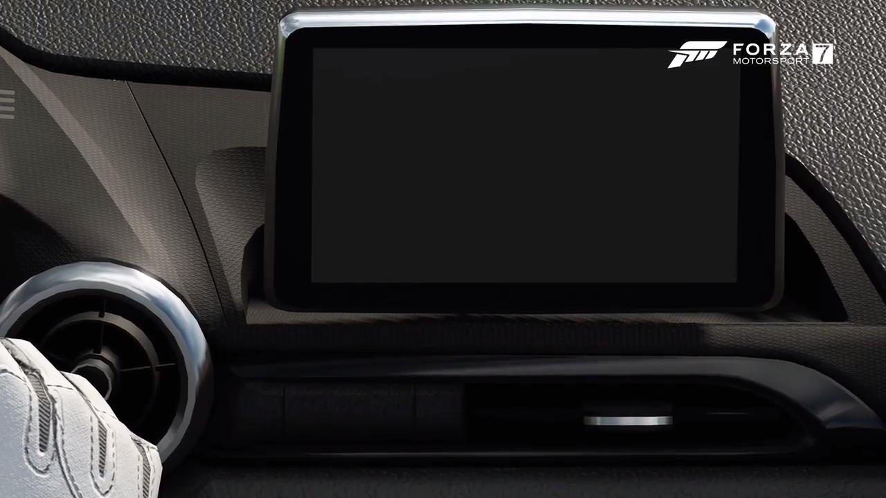 Forza Motorsport 7 Mazda MX 5 infotainment display