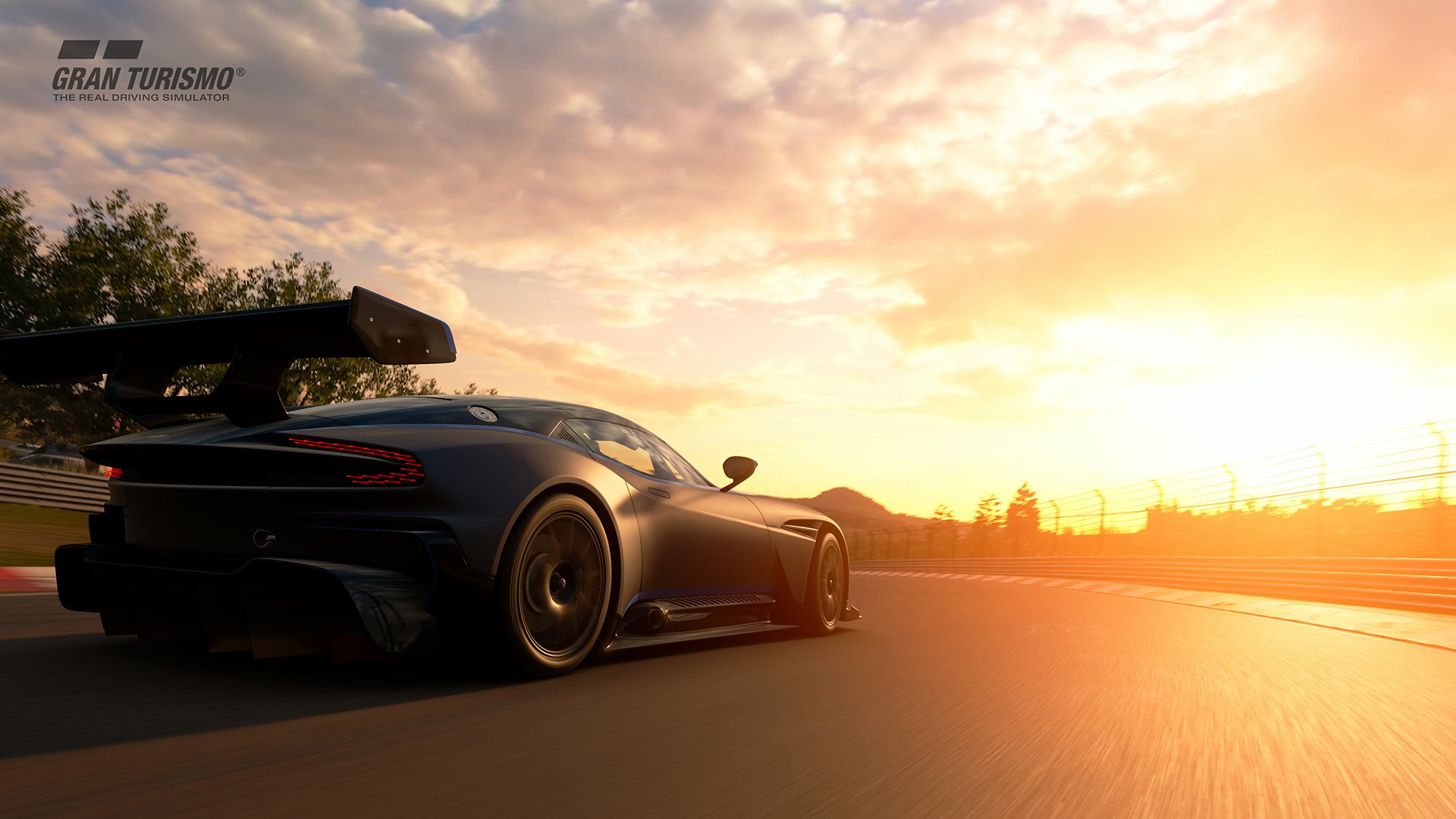 Gran Turismo Sport Aston Martin Vulcan sunset