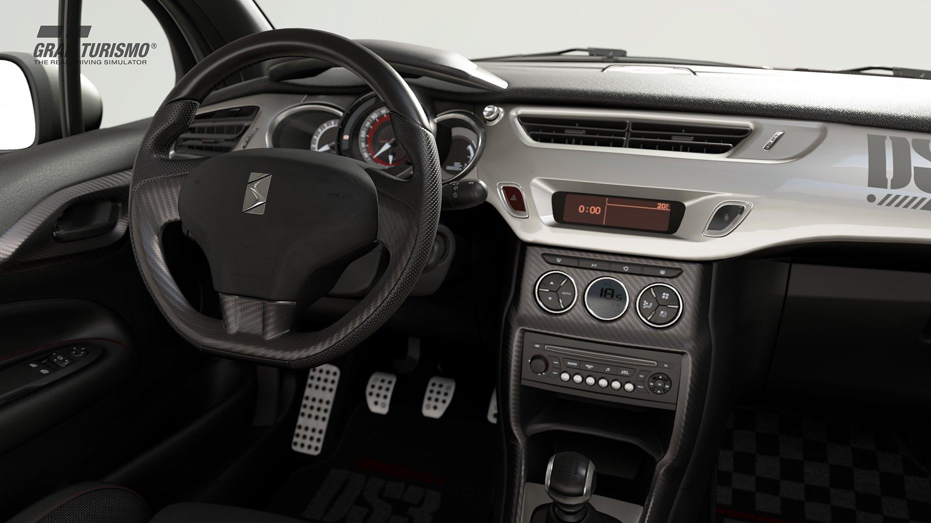 Gran Turismo Sport Citroen DS3 Racing interior