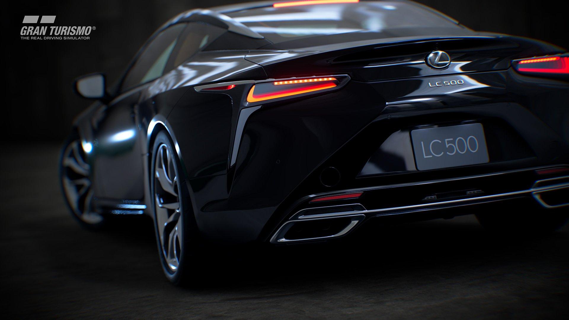 Gran Turismo Sport Lexus LC500 back wheel