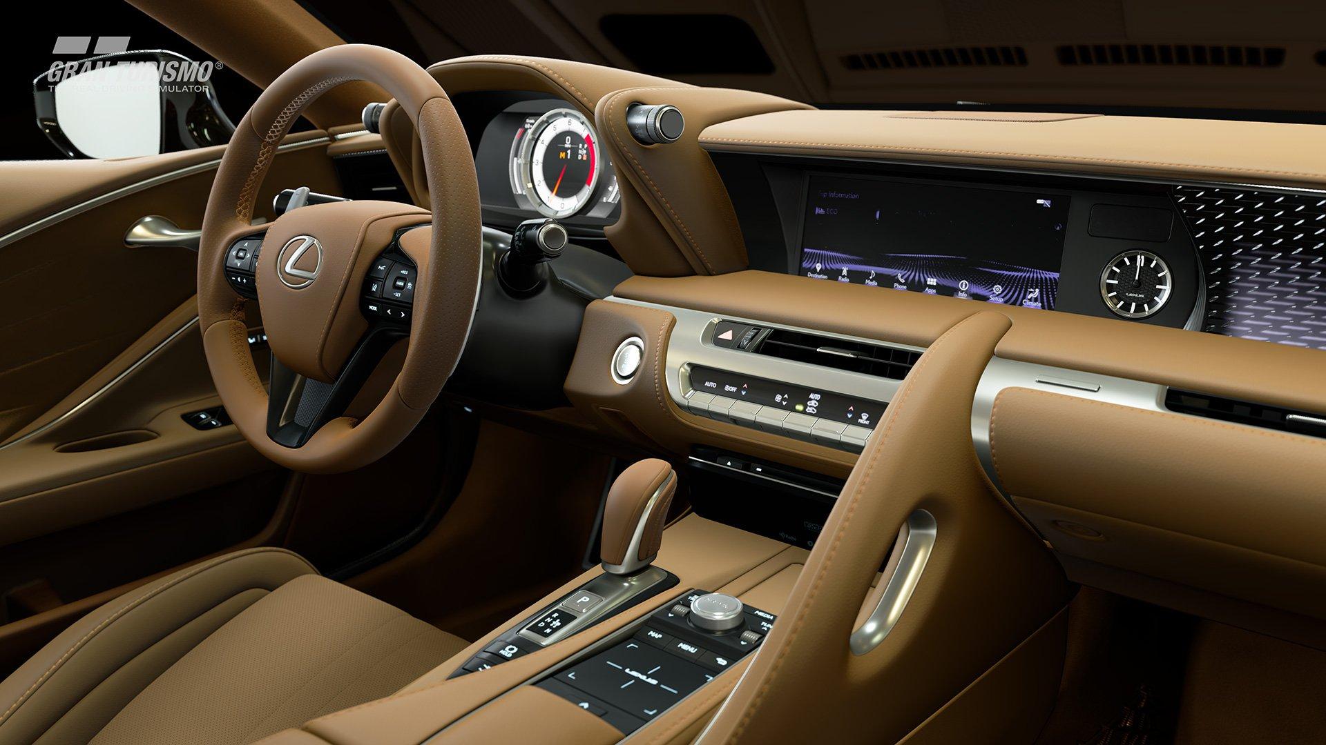 Gran Turismo Sport Lexus LC500 interior