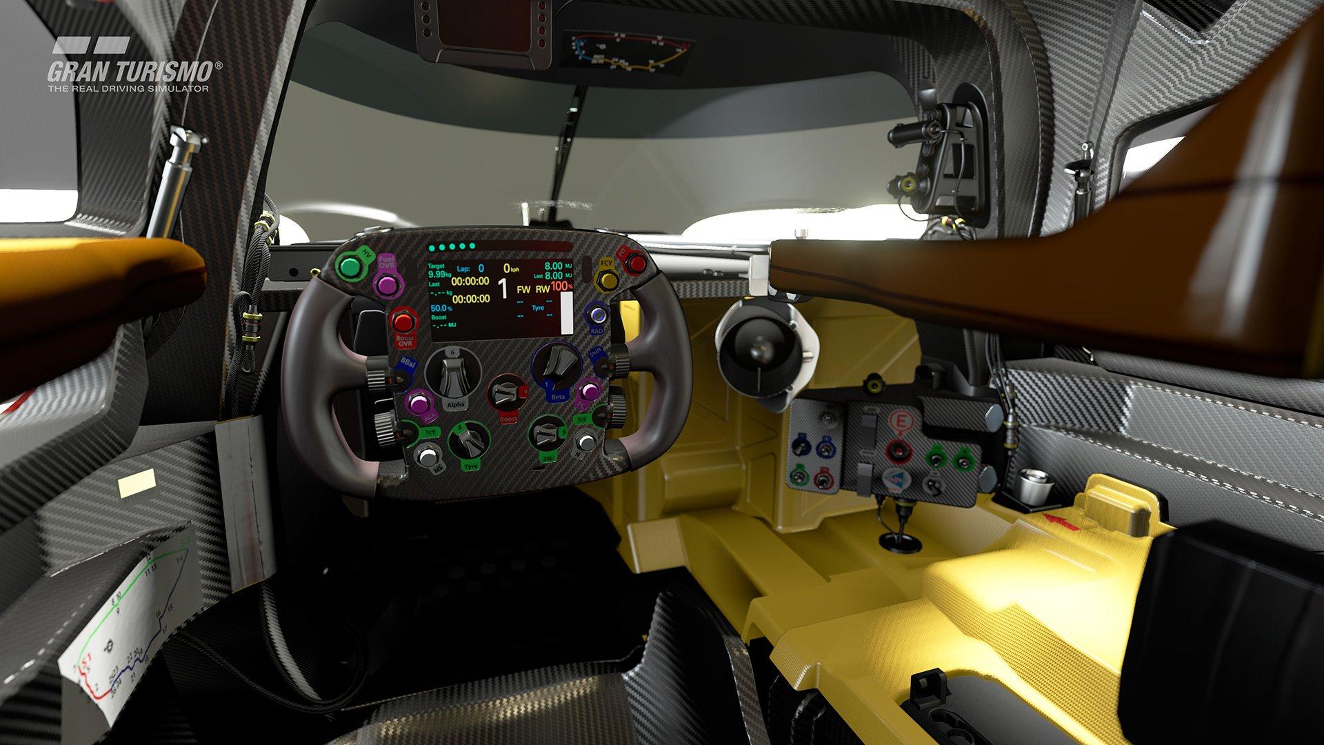 Gran Turismo Sport Toyota LMP1 interior