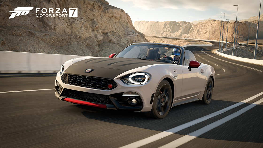 Forza Motorsport 7 Samsung QLED car pack Abarth 124 Spider