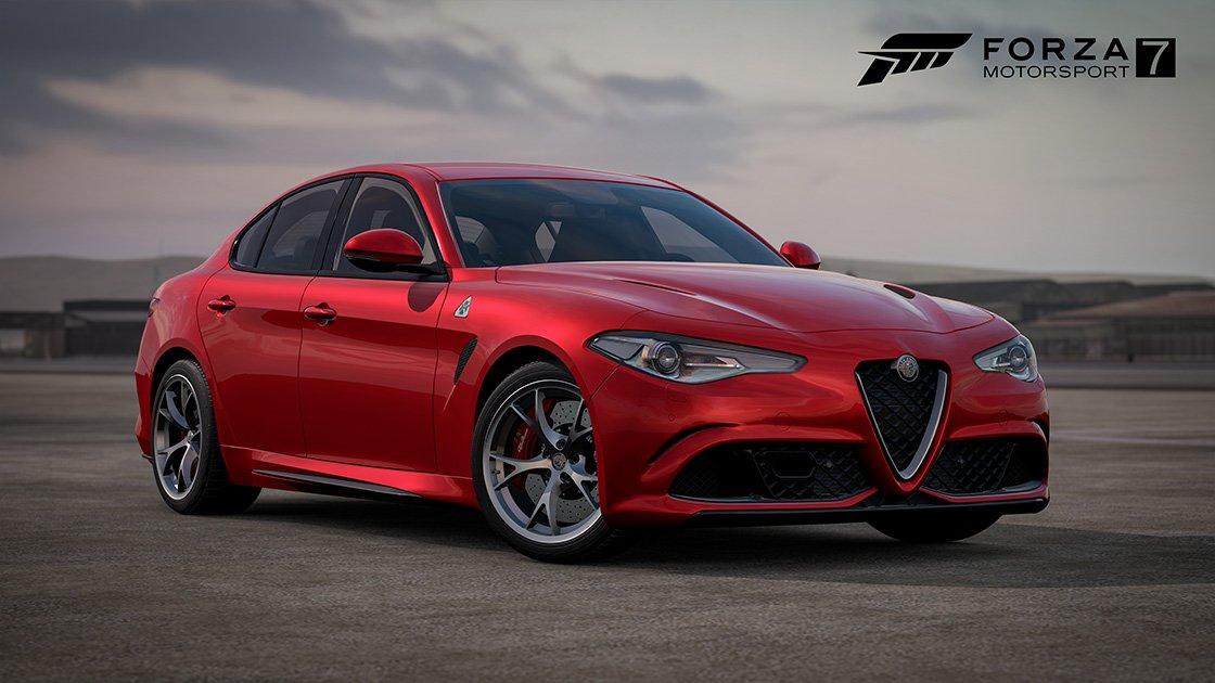 Forza Motorsport 7 Samsung QLED car pack Alfa Romeo Gulia QV