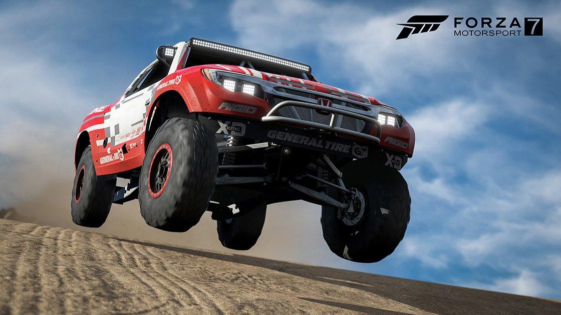 Forza Motorsport 7 Samsung QLED car pack Honda Ridgeline Baja Trophy Truck