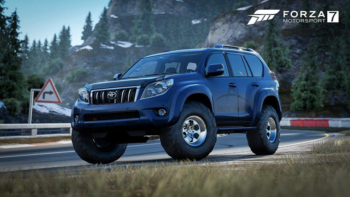 Forza Motorsport 7 Samsung QLED car pack Toyota Land Cruiser Arctic Trucks AT37