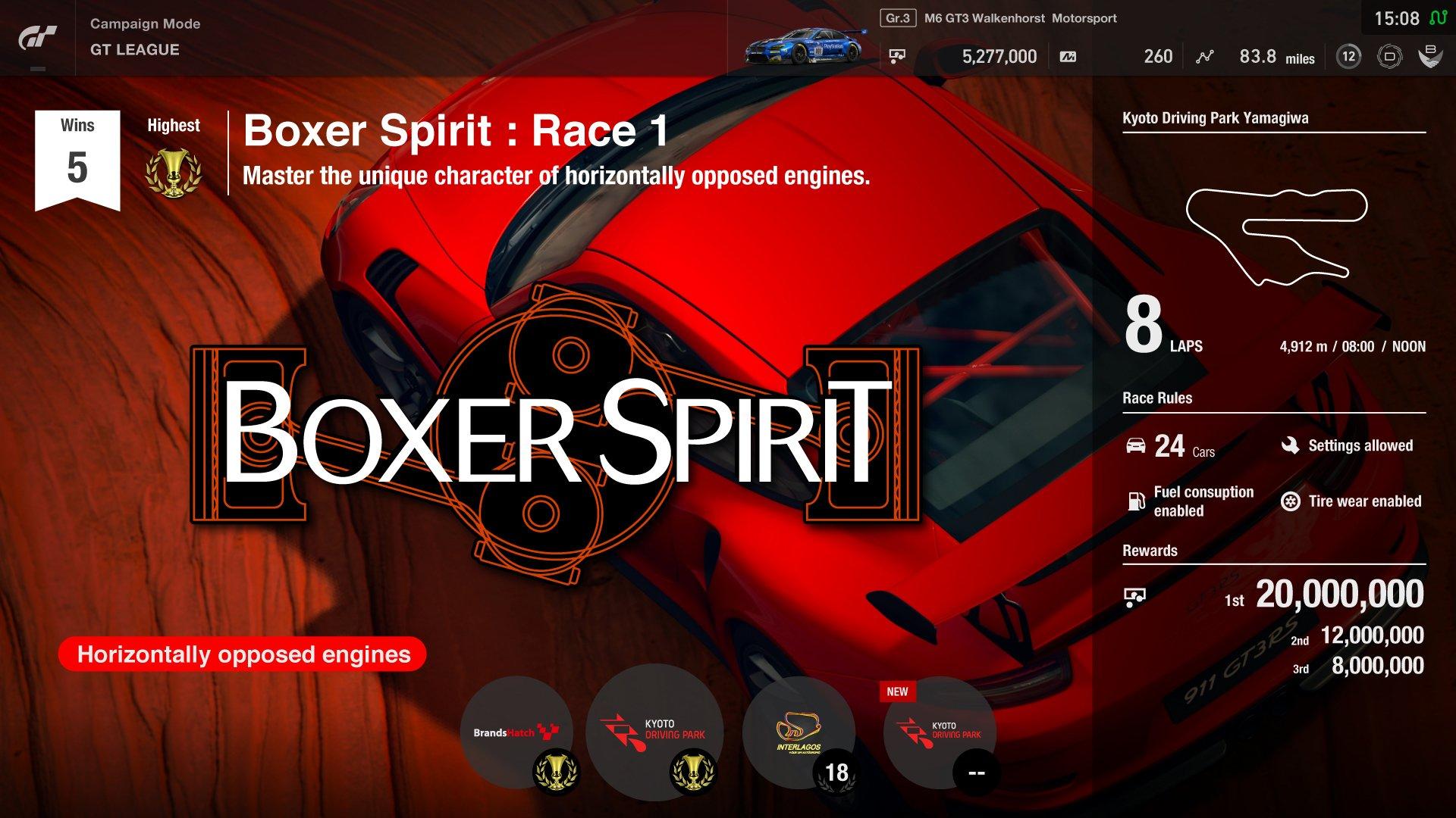Gran Turismo Sport Boxer Spirit
