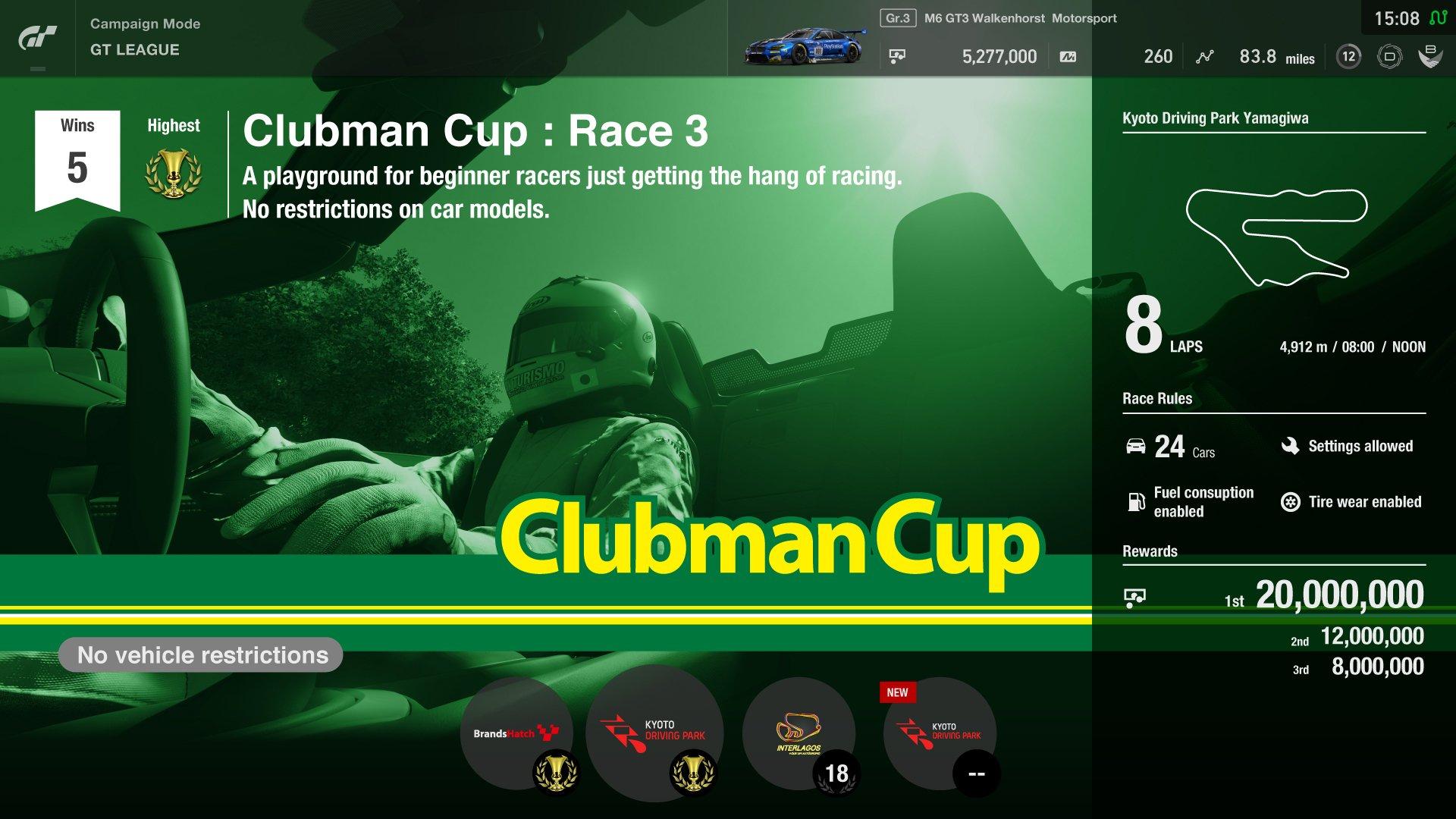 Gran Turismo Sport Clubman Cup