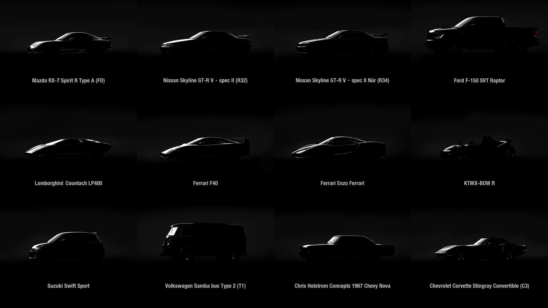 Gran Turismo Sport December cars preview