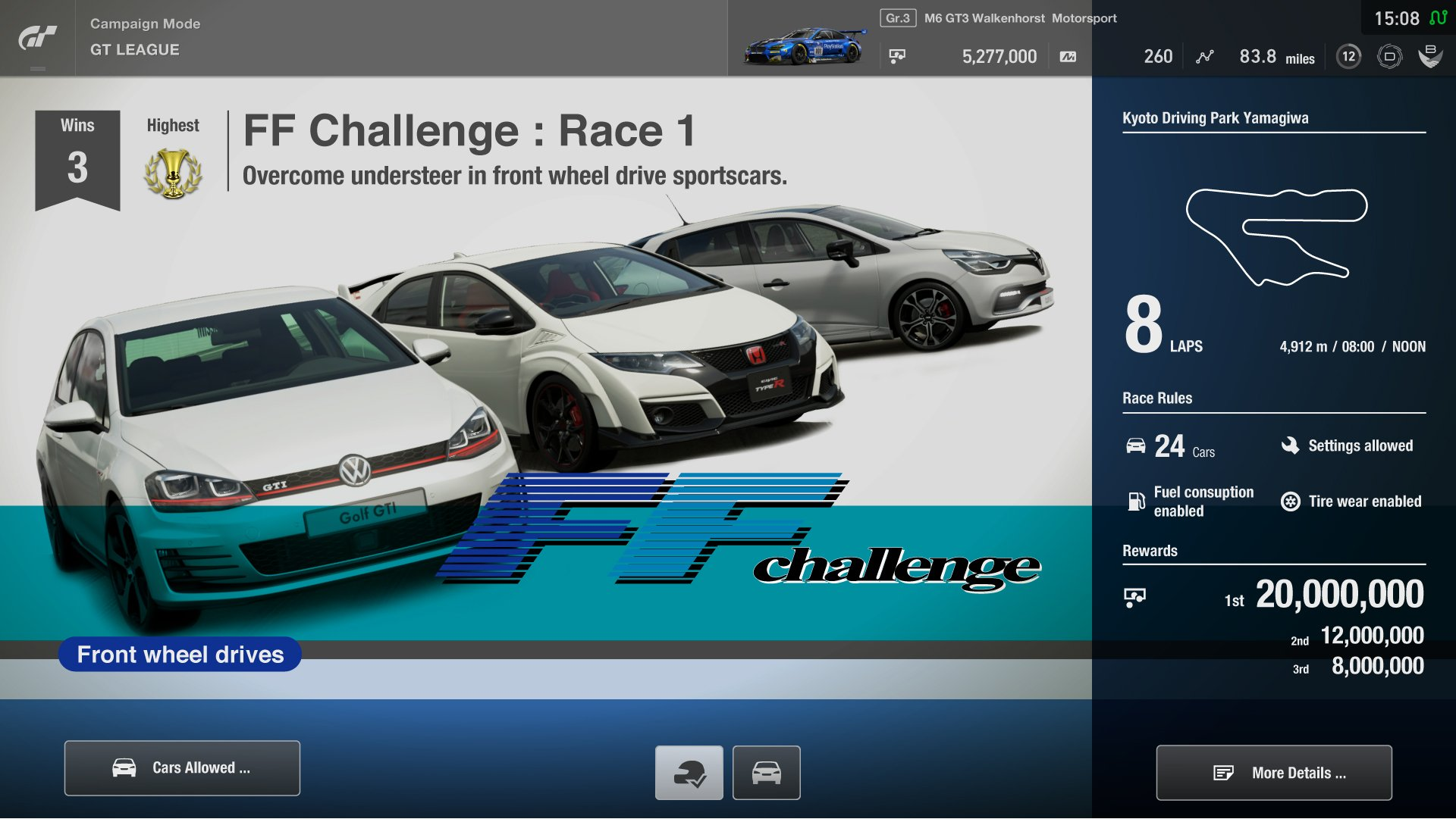 Gran Turismo Sport FF Challenge