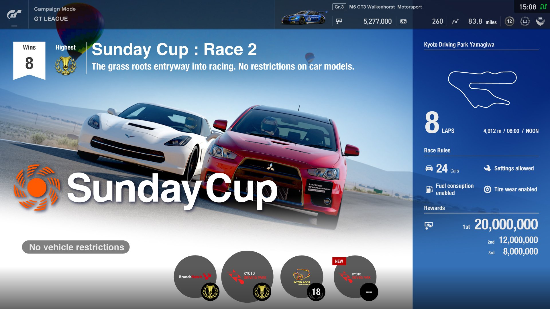 Gran Turismo Sport Sunday Cup