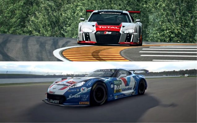 RaceRoom Audi and Corvette feature image