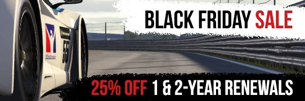 iRacing Black Friday sale