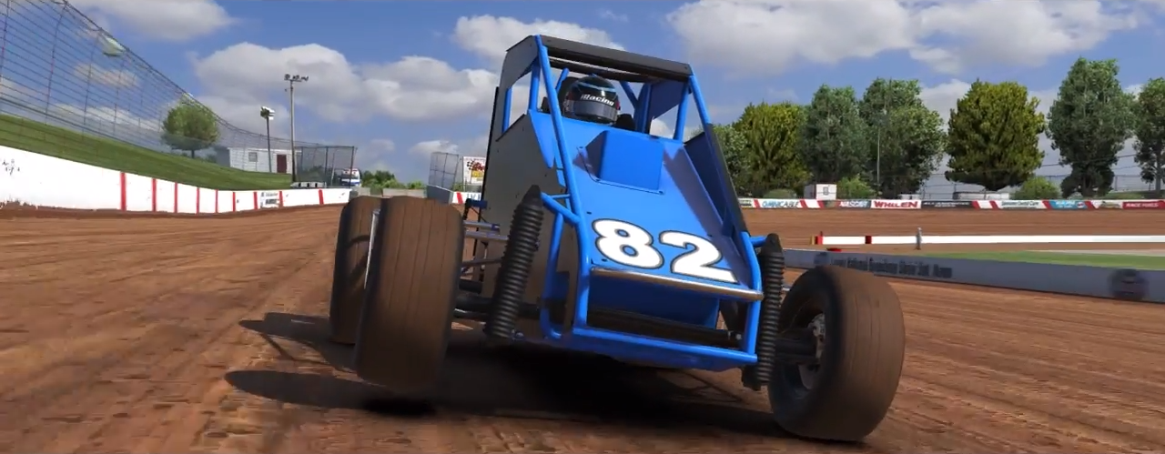 iRacing dirt midget close-up screenshot