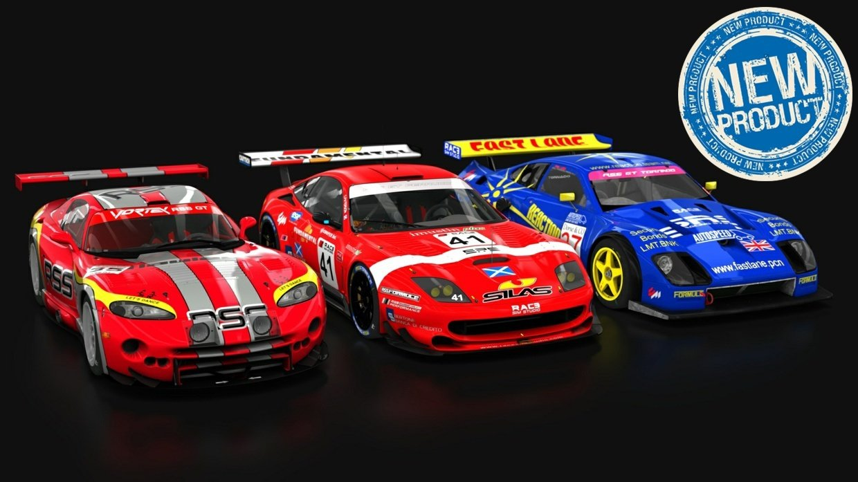 Race Sim Studio GT Pack part 1 all cars new product