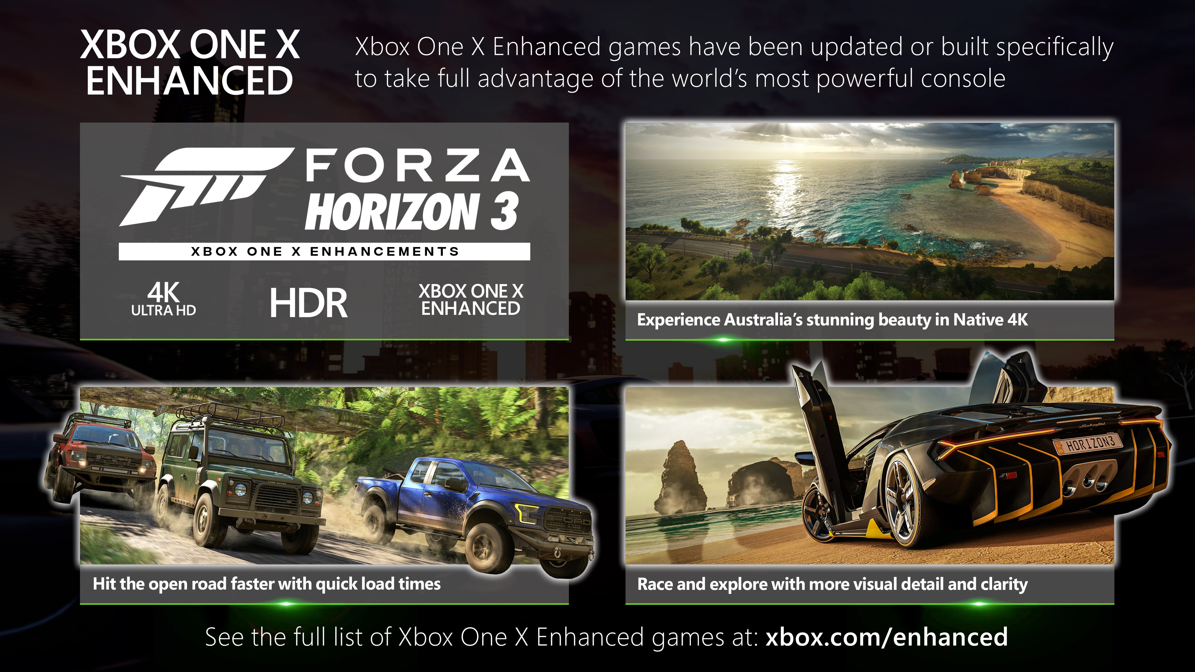 Forza Horizon 3 Xbox One X Enhanced Overview