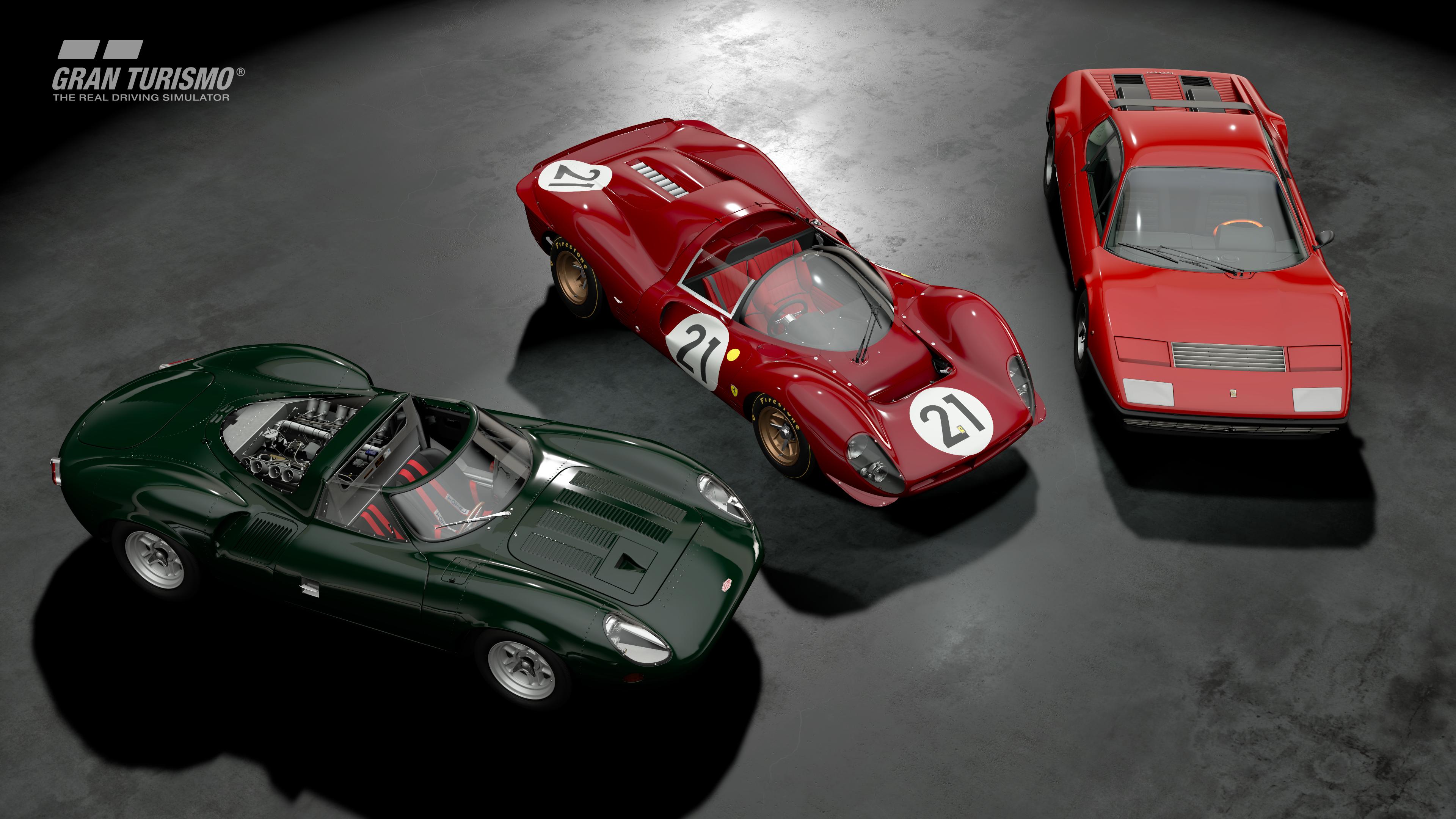 Gran Turismo Sport January update Ferraris and Jaguar