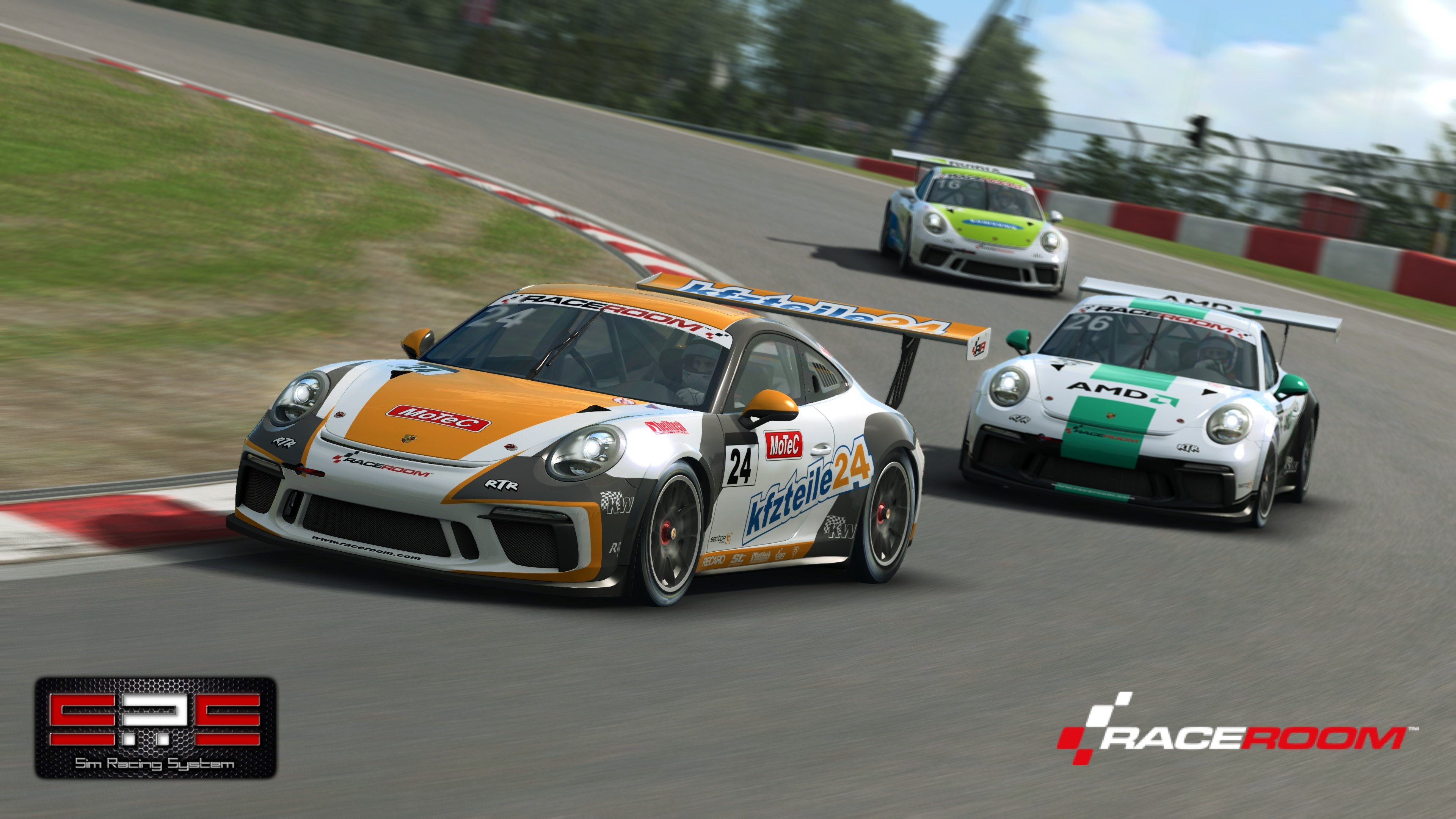 RaceRoom Porsche Sim Racing System featured image