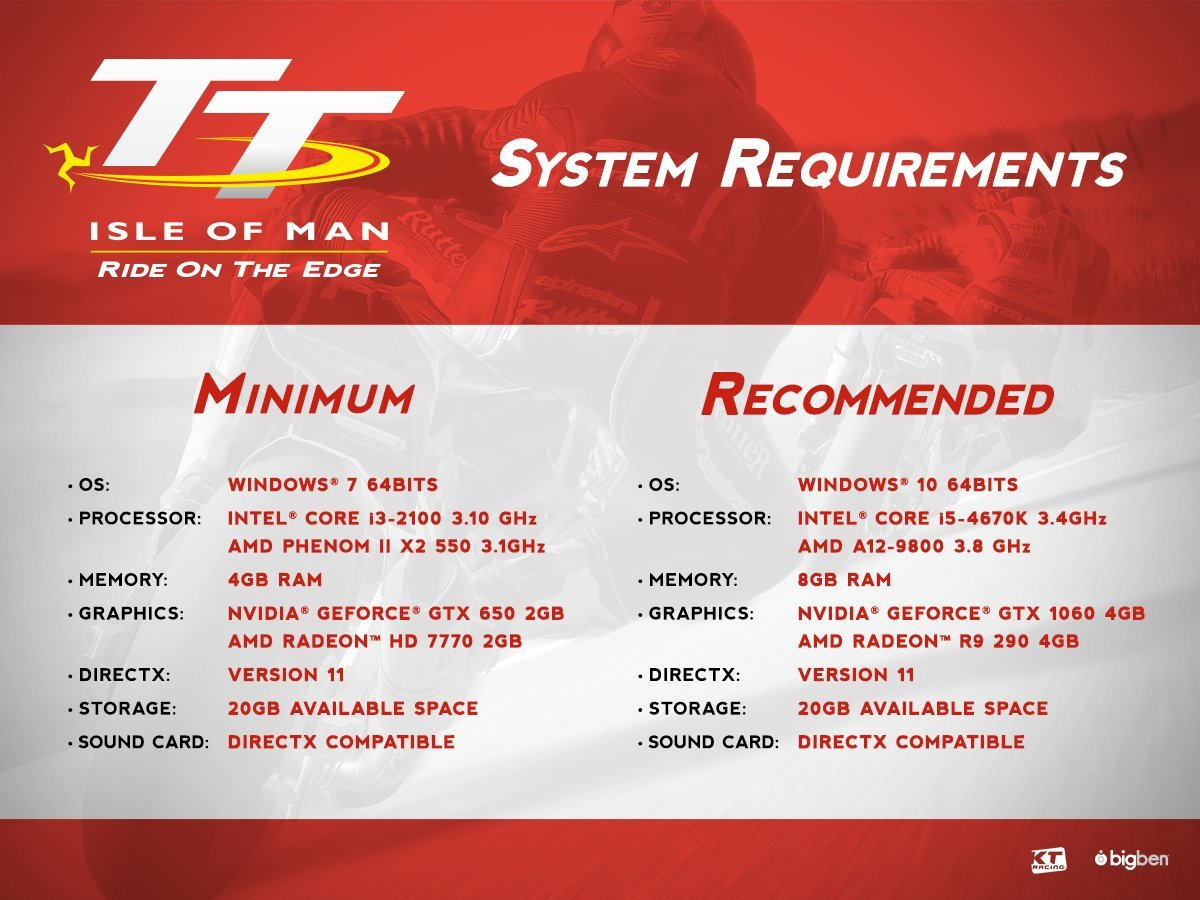TT Isle of Man the Game system requirements