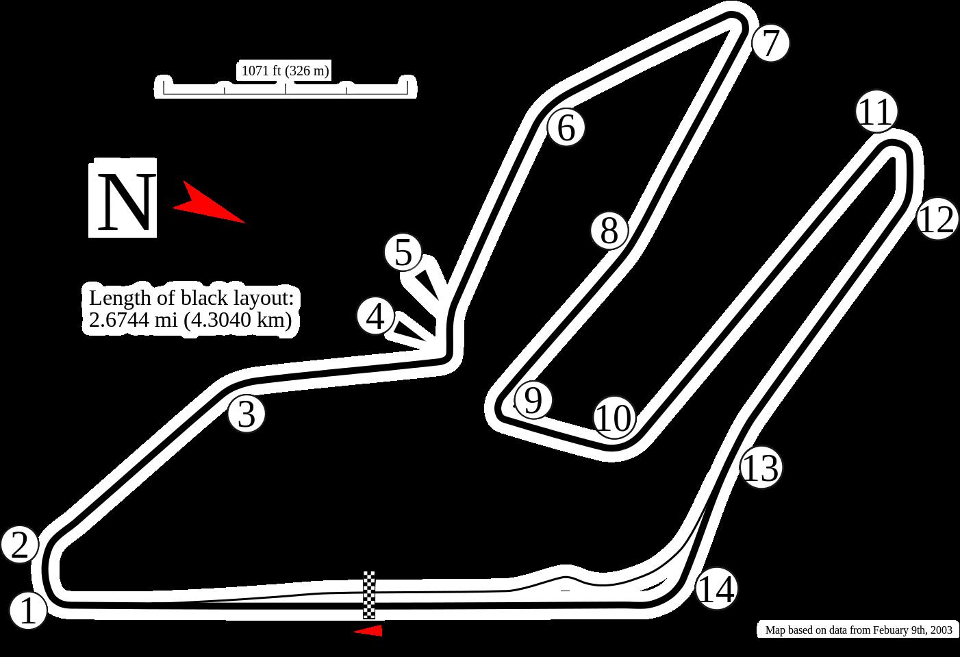 Zhuhai International Circuit track map