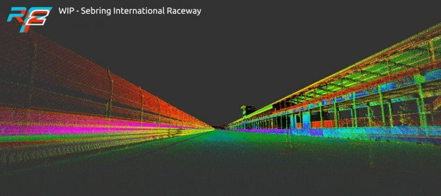 rFactor 2 February roadmap update Sebring laser scan 1