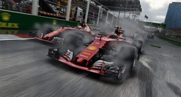F1 2017 Ferrari rain