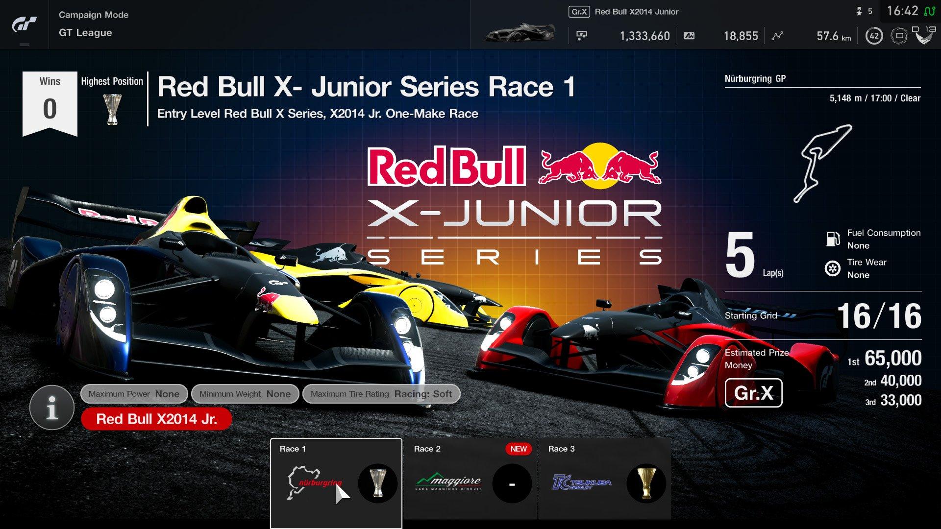 Gran Turismo Sport version 1.15 GT League event 1