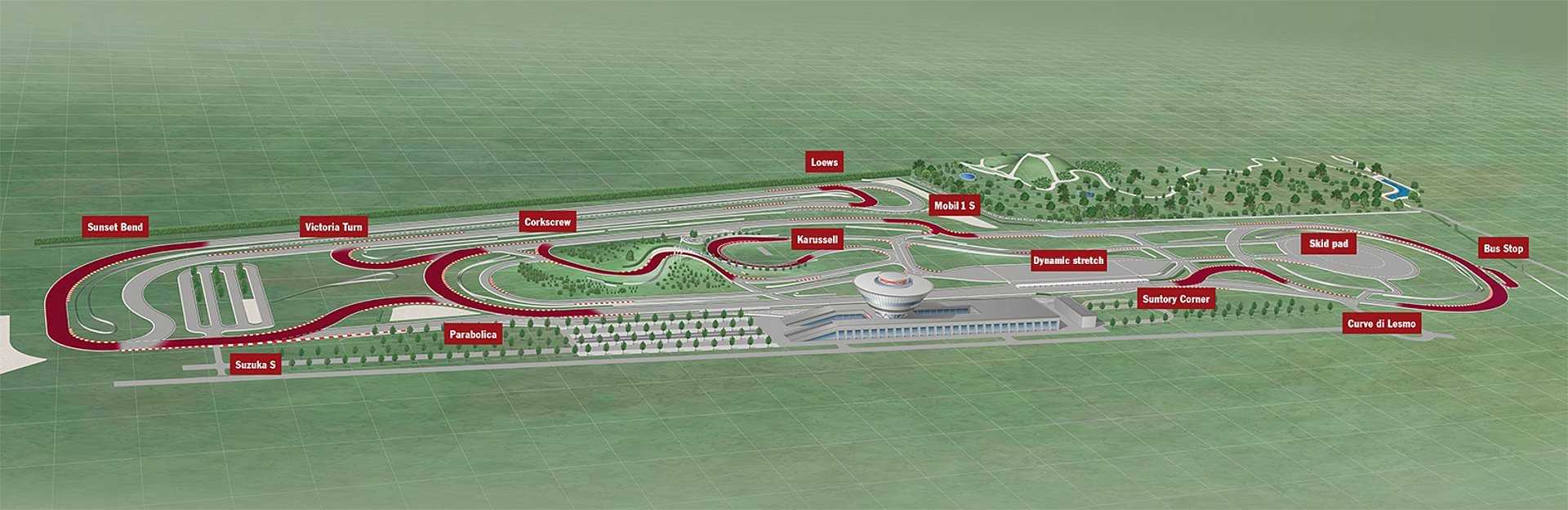Porsche on-road circuit track map