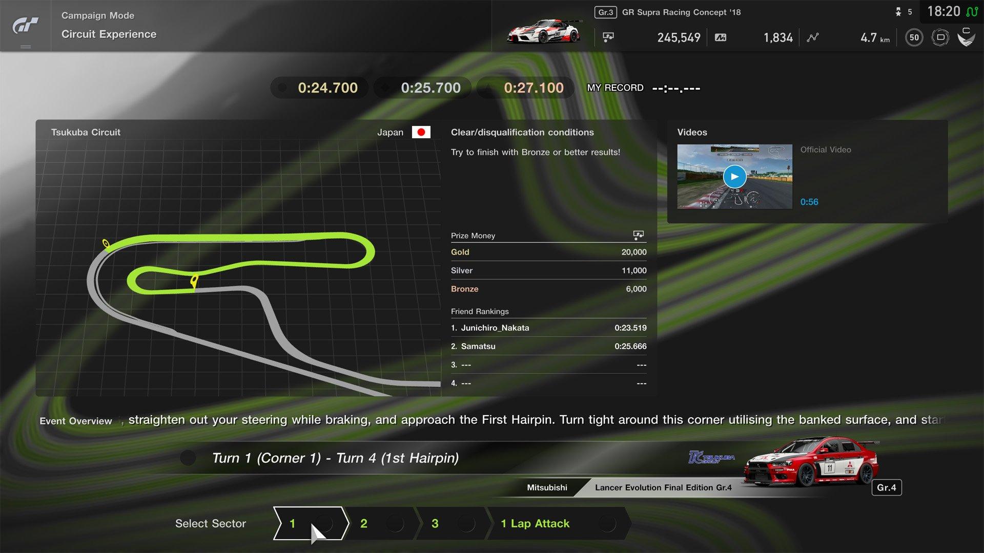 Gran Turismo Sport April update Tsukuba Circuit circuit experience