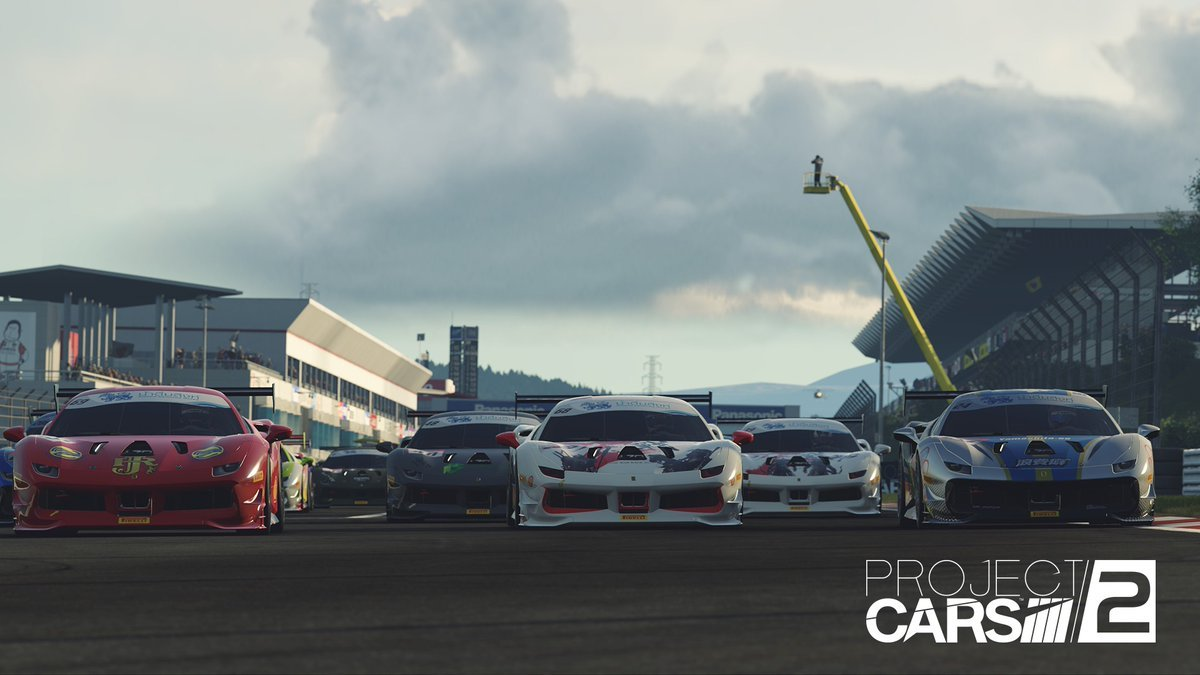 Project CARS 2 Ferrari 488 Challenge line up