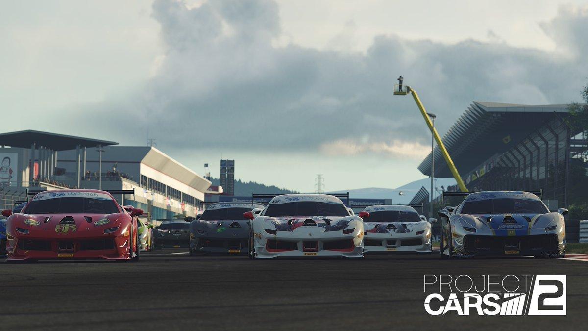 Project CARS 2 Ferrari 488 Challenge line up