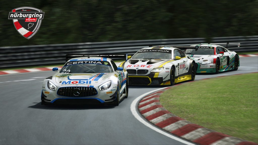 RaceRoom Nurburgring eSports Team Endurance Championship GT3 cars