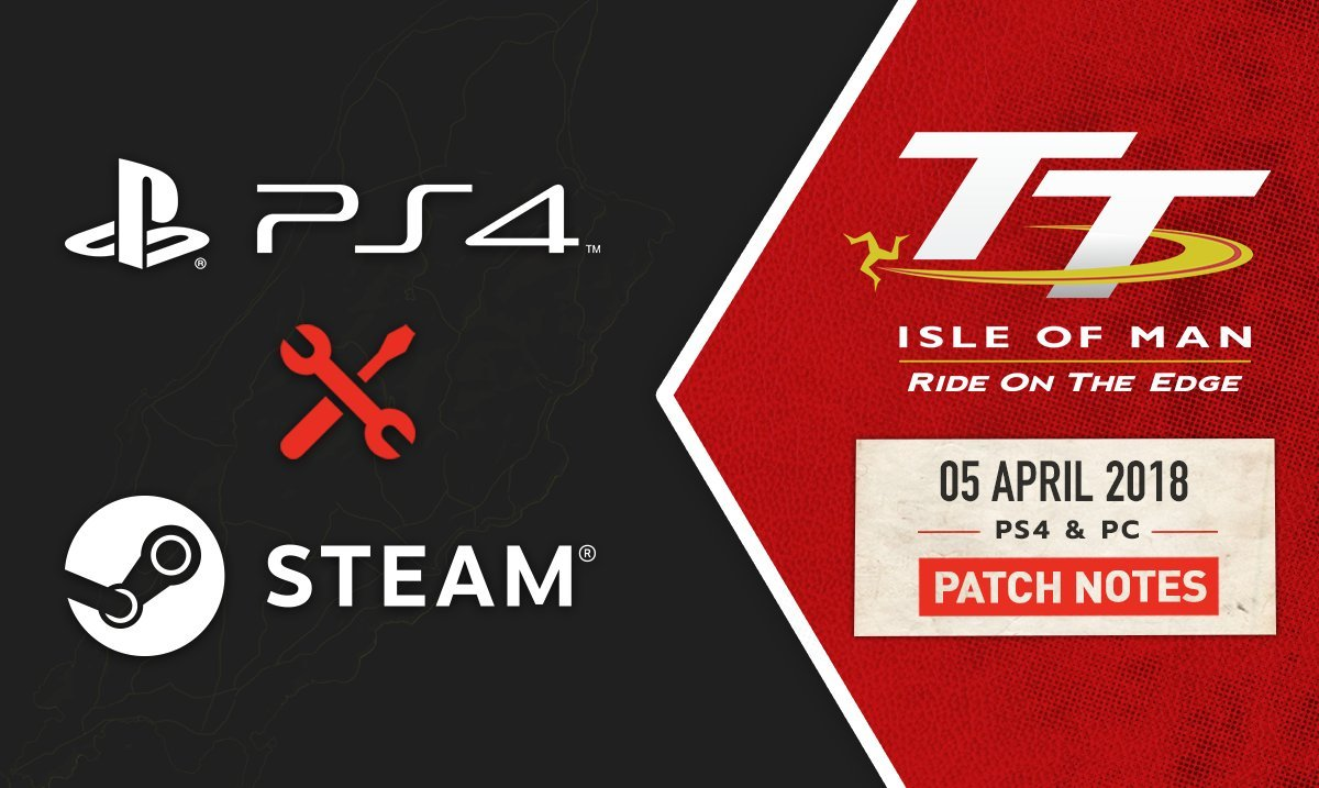 TT Isle of Man the Game PC and PS4 patch banner
