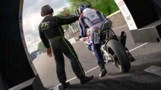TT Isle of Man the Game rider waiting for start