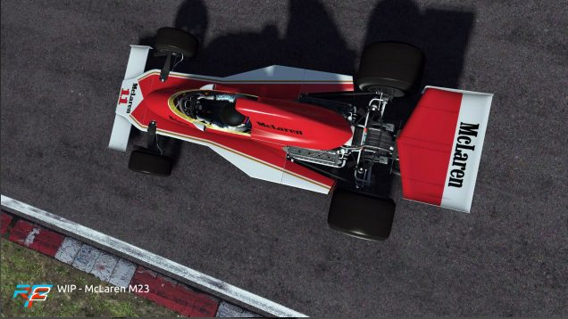 rFactor 2 April roadmap update McLaren M23 preview 1