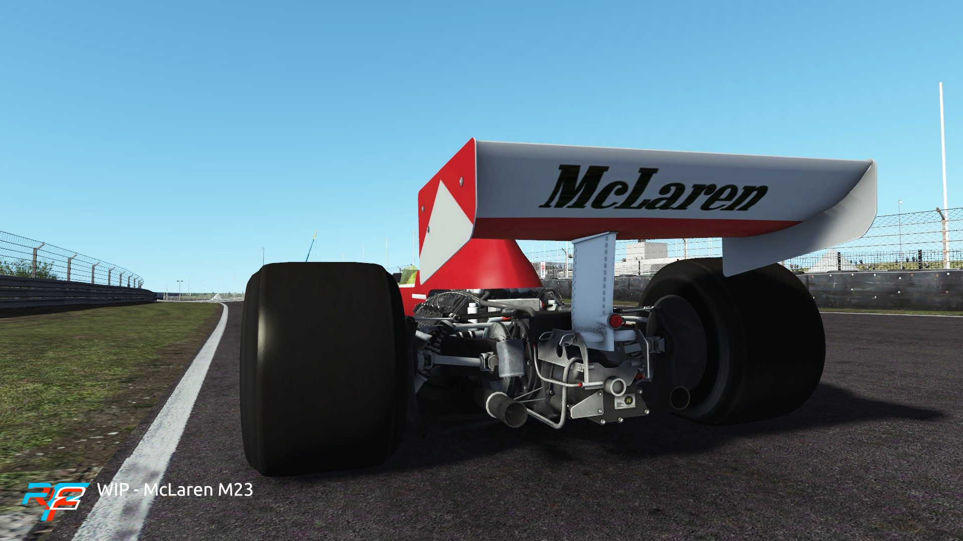 rFactor 2 April roadmap update McLaren M23 preview 2
