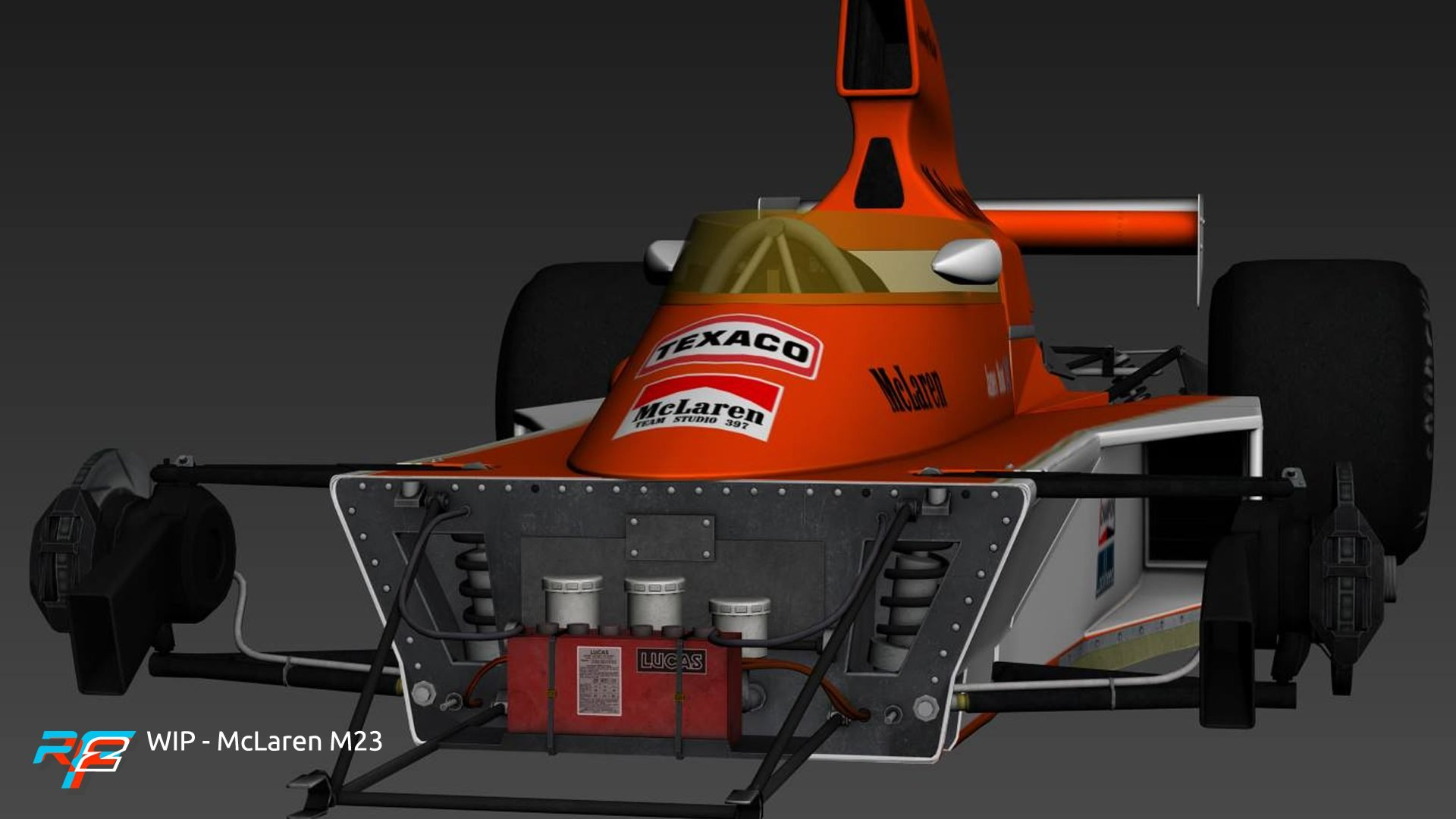 rFactor 2 April roadmap update McLaren M23 preview 3