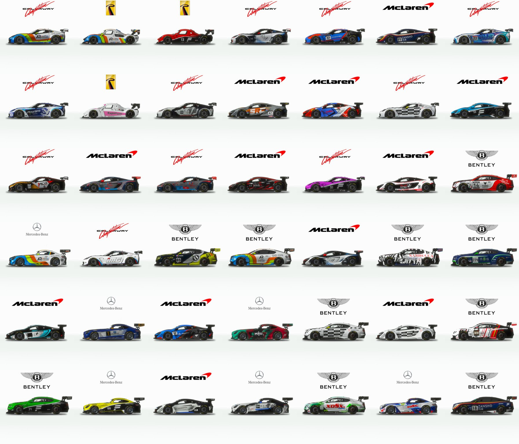 rFactor 2 March rodmap community GT3 skins