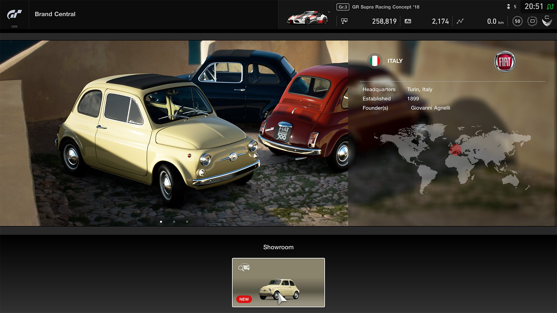 Gran Turismo Sport May update Brands Central Fiat