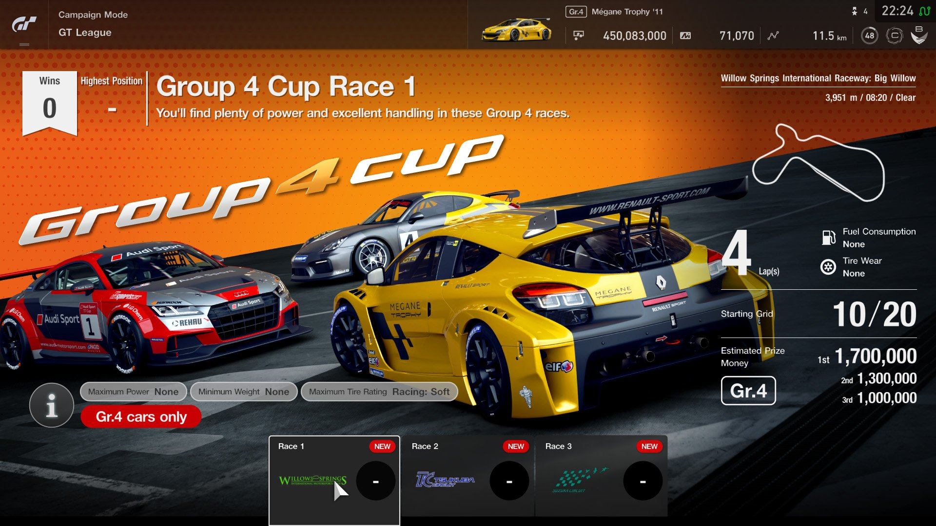 Gran Turismo Sport May update GT League event 1