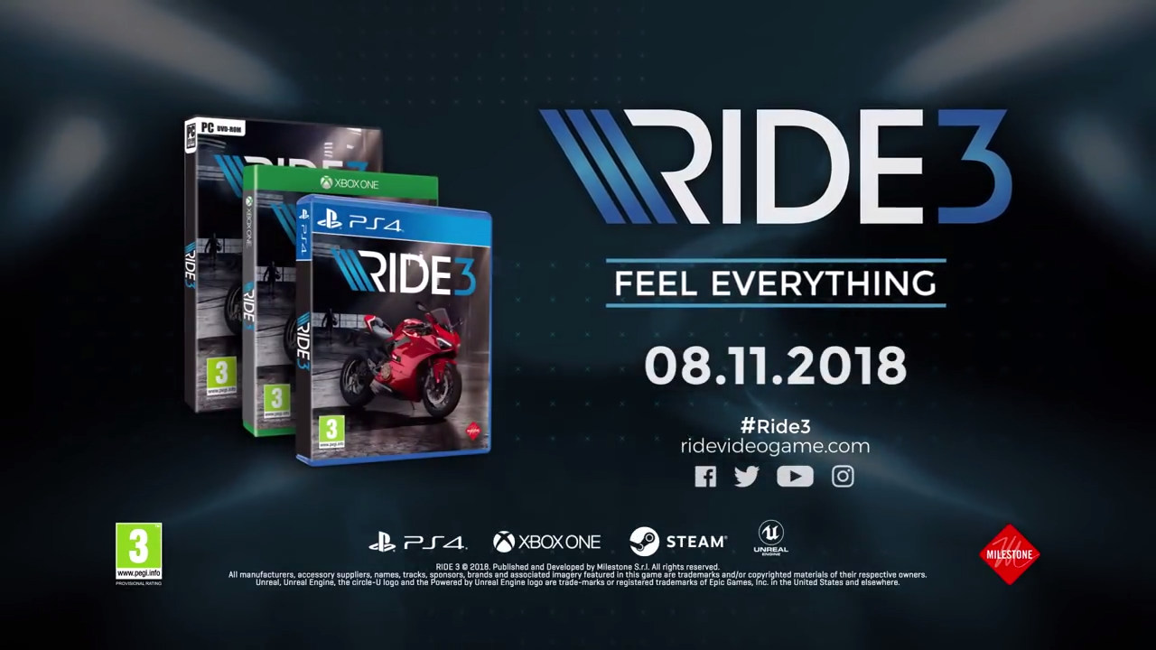 Ride 3 release banner
