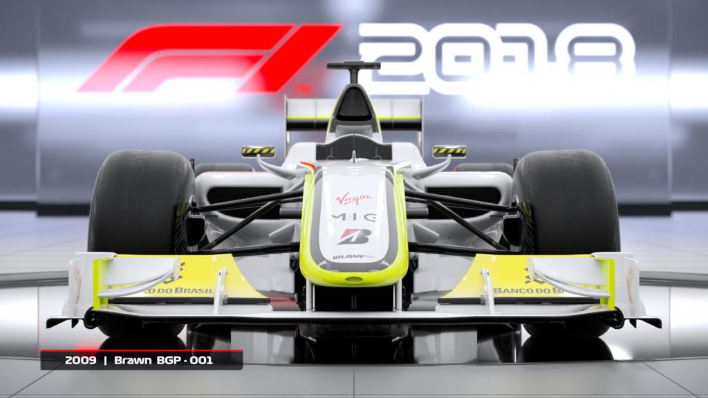 F1 2018 2009 Branw BGP-001