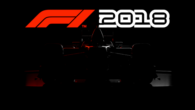 F1 2018 car sillhouette with logo