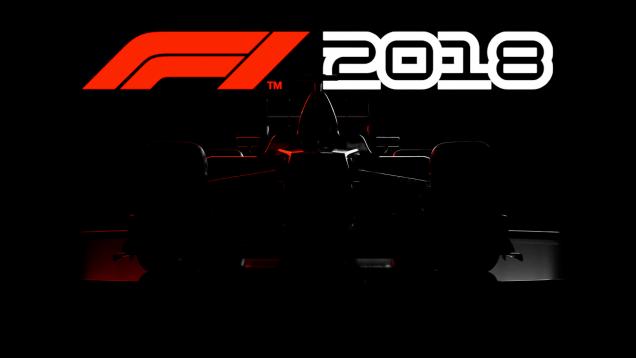 F1 2018 car sillhouette with logo