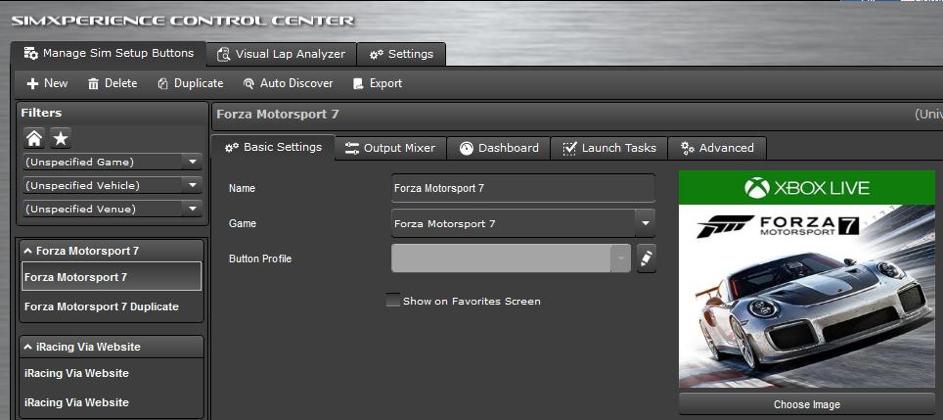 Forza Motorsport 7 Sim Commander 4 guide screenshot